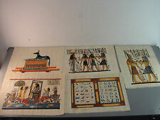 PAPYRUS EGYPTIAN PAINTING HAND-PAINTED SIGNED ART HIEROGLYPHIC ISIS HORUS ANUBIS