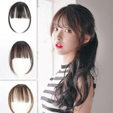 False Thin Bang Clip In Front Synthetic Hair Extension Air Hairpiece with Fringe
