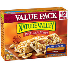 Nature Valley Sweet & Salty Nut Granola Bar Variety Pack Peanut & Almond 12 Pack