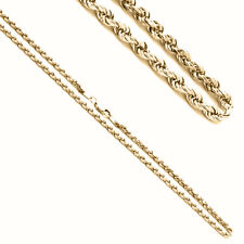 2mm 14K Yellow Gold Rope Chain Necklaces