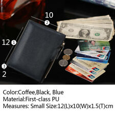 Men's Leather Wallet ID Credit Card holder Clutch Bifold Coin Purse Pockets New
