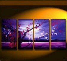"4 PCS Large Modern Abstract Art Oil Painting Wall Decor canvas""hand painting"""