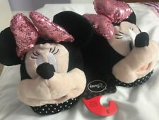 Primark Ladies Girls Disney Minnie Mouse Slippers Size S 3-4 BNWT Mules