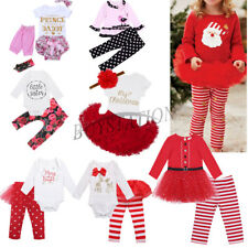 Newborn Infant Baby Girl Outfit Romper Bodysuit Pants Tutu Dress Clothes Clothes
