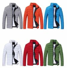Mens Stand Collar Thick Cotton Coat Ultralight Down Puffer Jacket Padded Outwear