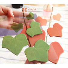 Sticker Post It Green Leaf Stationery Bookmark Pad Sticky Note Memo Simulation