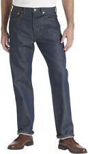 Levi's Strauss 501 Button Fly Shrink-to-Fit Rigid Indigo Mens Jeans