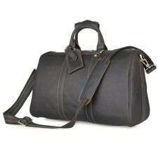 Vintage Genuine Leather Gym Bag Weekender Duffle