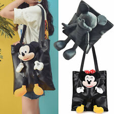 Mickey Mouse Women Handbag Minnie Shoulder Bags Leather Large Tote Cute Hand Bag