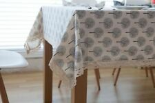 New Design Printed Cotton/Linen Fabric Table Cloth For Home Decoration
