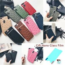 Film+OSTRICH PATTERN LEATHER FASHION Vogue Hard Back Case Cover For Apple iPhone