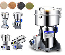 220V 550W New Grain Grinder Mill Powder Stainless Herb Pulverized Food Grade