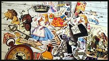 Vintage Alice in the wonderland,ephemera Paper,Die-Cuts Scrapbook  Decoupage