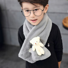 Cute Bear Kids Winter Warm Plush Scarf SOFT Shawl Gift Christmas
