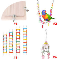 4Types Pet Bird Cage Swing Perches Stand Platform Chew Climb oy for Parrot Bites