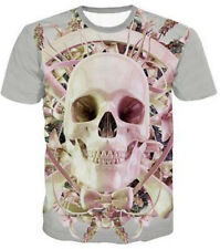 3D Print Fashion Graphic Tee T-Shirt Casual Genteel Skull Short Sleeve w56