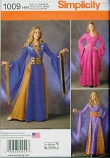 Simplicity 1009 Medieval Fantasy Gown Cosplay Costume Sewing Pattern UNCUT NEW