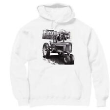 Pullover Hooded hoodie country sweatshirt Antique tractor farm barn farmer IRON