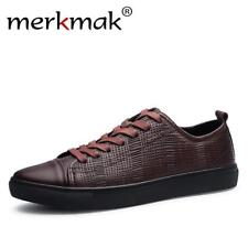 Merkmak 2017 New Fashion Men Genuine Leather Shoes Leisure Male Casual Leather O