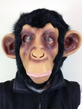 Chimp Mask Monkey Chimpanzee Arms Hands Planet Apes Animal Fancy Dress Costume