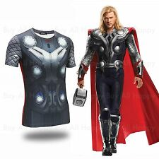 Avengers Age of Ultron Thor Odinson Printed Short Sleeves T-shirt Tee Costume