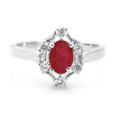 925 Sterling Silver Ring with Oval Red Ruby Natural Gemstone handcrafted eBay