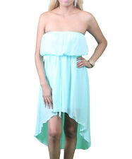 Gorgeous Mint Green Chiffon Strapless Beach Dress Size Small Medium Large