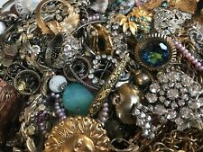 UNSORTED MIXED VINTAGE MODERN ESTATE RHINESTONE VARIOUS HUGE 4 LBS JEWELRY LOT