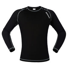 Cycling Long Sleeve Jersey Outdoor Sports Underwear Exercise Black White