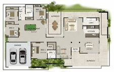 House Plan For Sale - 4 bedroom Acreage Style - 4 bed colional house plans