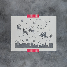Santa Christmas Eve Stencil - Reusable Stencils of Santa Christmas Eve Scene