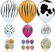 "Qualatex 10 x 11"" Animal Print Latex Balloons Suitable for air or helium"