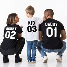 Cotton DADDY MOMMY KID BABY Girl Boy Clothes Family Matching Clothes t-shirts
