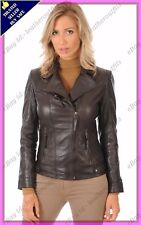 Womens Genuine Lambskin Motorcycle Real Leather Jacket Slim fit Biker Jacket #72