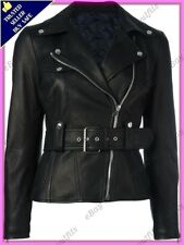 Womens Genuine Lambskin Motorcycle Real Leather Jacket Slim fit Biker Jacket #69