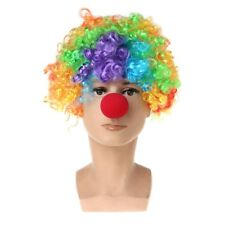 Clown Wig+Clown Nose Colorful Circus Cosplay Costume Accessories Curly Hair Wig