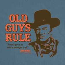 Old Guys Rule Men's John Wayne Portrait Tee Shirt