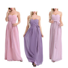 Long Chiffon Bridesmaid Dress Women Lady Formal Gown Party Prom Evening Dress