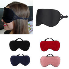 Pure Silk Sleep Rest Eye Mask Padded Shade Cover Travel Relax Aid Blindfolds