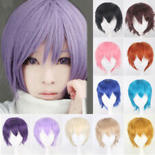 Top Ladies Unisex Cosplay Wigs Short Straight Heat Resistant Party Rfy