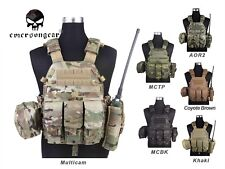 EMERSON LBT6094A Style Plate Carrier Vest with 3 Pouches Tactical Gear EM7440