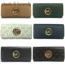 NWT MICHAEL KORS Fulton Flap Continental Wallet in 6 Colors