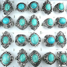 Charms 6-25pcs Vintage Antique Silver Womens Mens Rings Wholesale Jewerly Lots