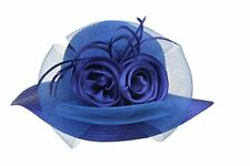 Women's Organza Wide Brim Floral Ribbon Kentucky Derby Church Dress Sun Hat
