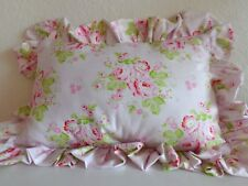 Shabby Cottage Chic Ruffled Decorative Pillow   Select Size