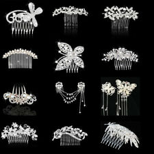 Lady Girls Glitter Crystal Hair Comb Hair Clip Headpieces Hair Jewelery Costume