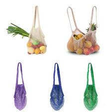 Reusable Fruit String Grocery Shopper Cotton Tote Mesh Woven Net Shoulder Bag