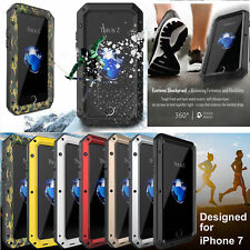 Aluminum Metal Waterproof Shockproof Gorilla Glass Cover Case For iPhone 7/ Plus