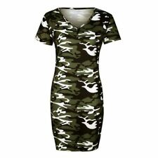 Women New Arrival Fashion Solid Pattern Short Sleeve Printed Bodycon Dress N379