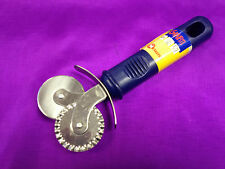 "Metaltex Dual Wheel Pizza Ravioli Pastry Dough Pasta Cutter Crimper ""UK STOCK """